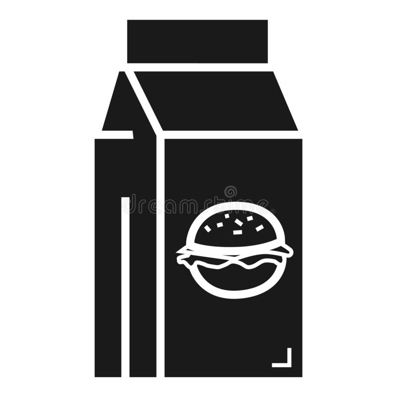 Fast food lunchbox icon, simple style stock illustration