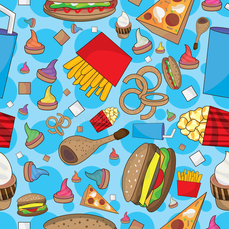 Download Fast Food Many Can Eat Seamless Pattern_eps Stock Vector - Illustration: 27802818
