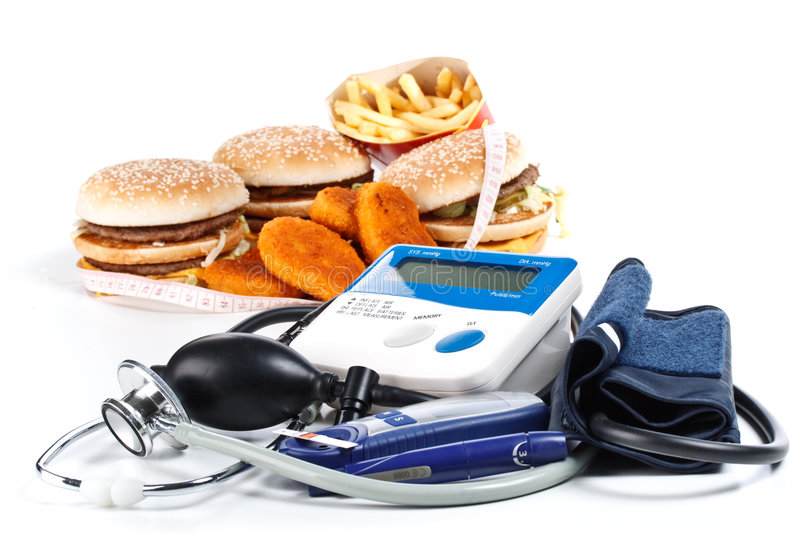 Download Fast-food And Medical Tools Stock Photo - Image of glucose, diagnostic: 8490350