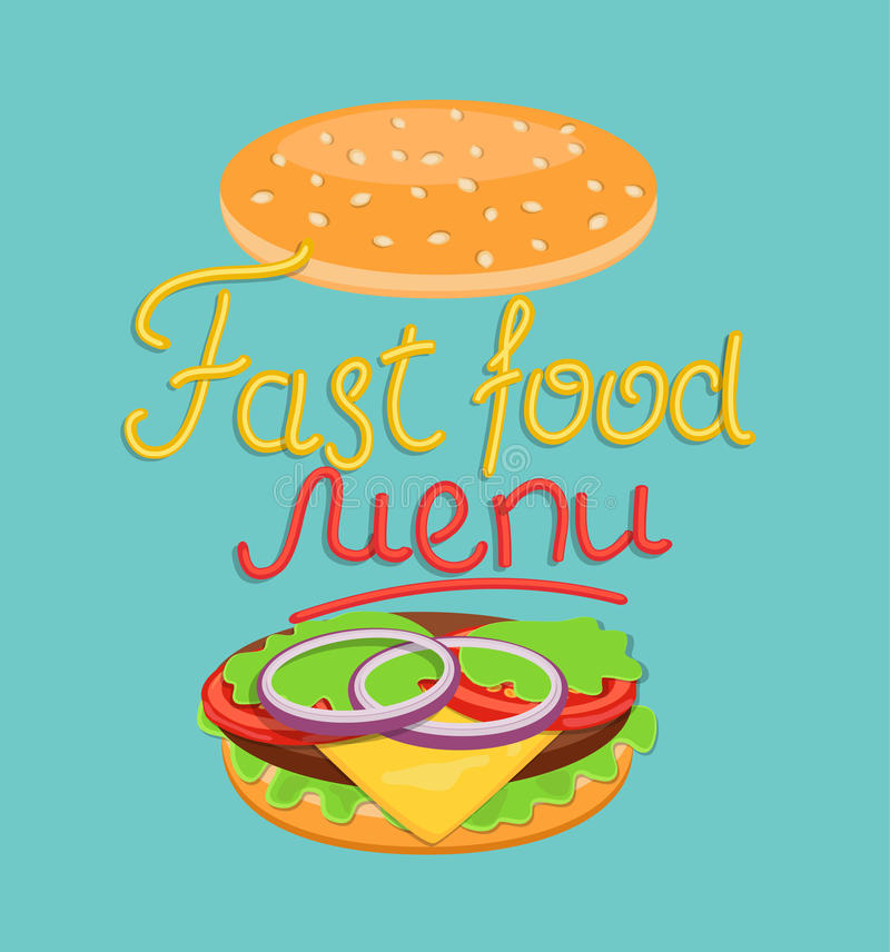 Fast food menu. royalty free illustration