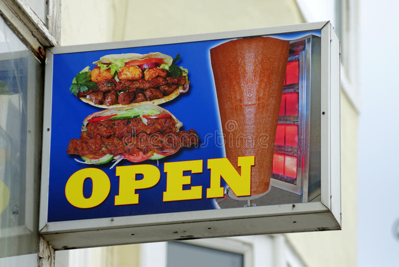 Fast Food Outlet Sign stock photo