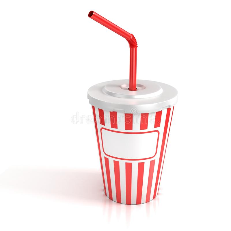 Free Fast Food Paper Cup With Red Tube Stock Image - 19349431