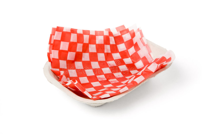 Fast food paper tray stock image