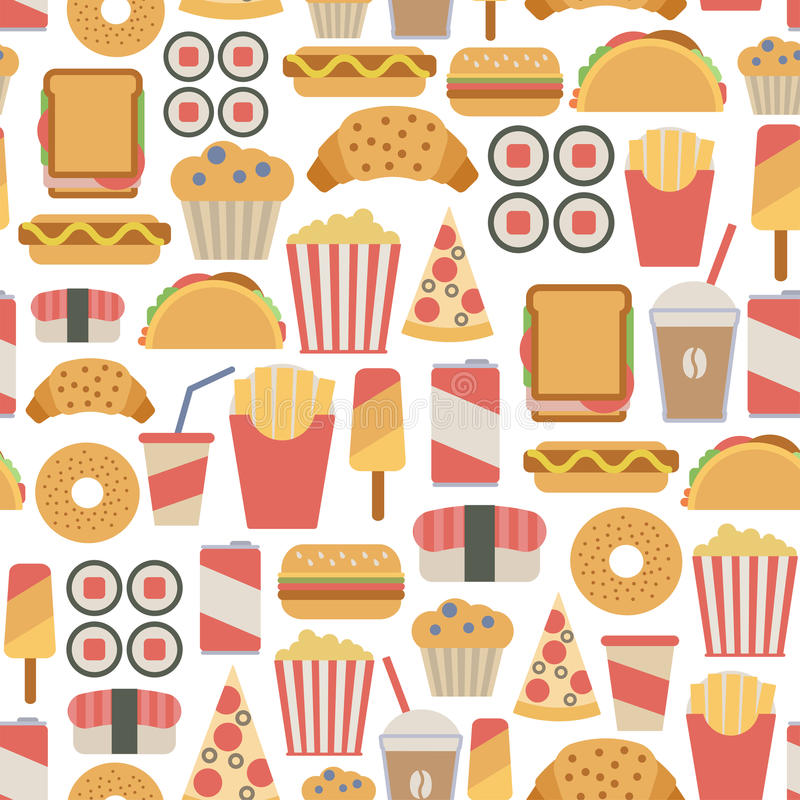 Free Fast Food Pattern Stock Images - 38190374