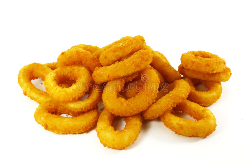 Fast Food Popular Side Dish of Onion Rings royalty free stock image