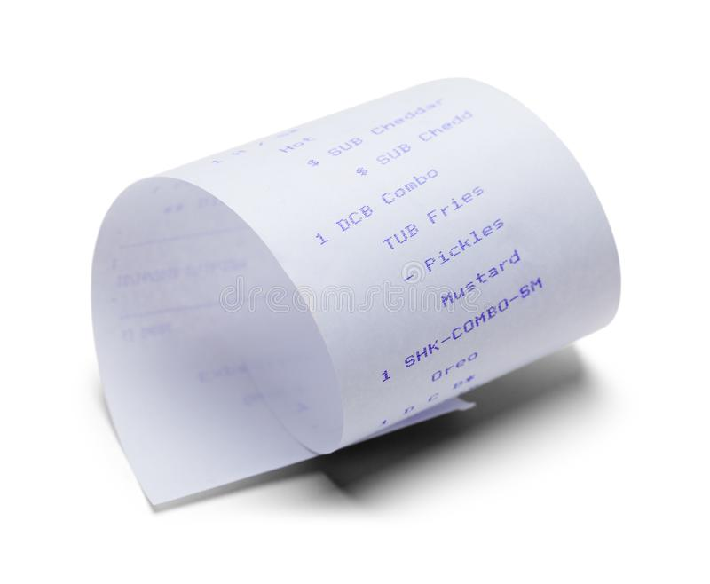 Fast Food Receipt royalty free stock image