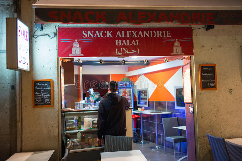 Fast Food Restaurant, Aix-en-Provence royalty free stock image