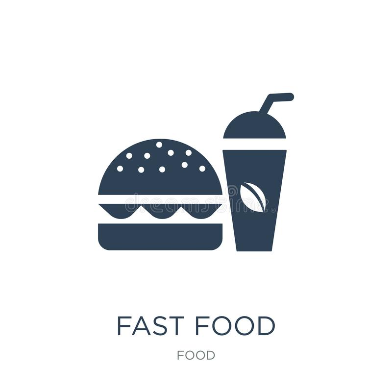 Fast food restaurant icon in trendy design style. fast food restaurant icon isolated on white background. fast food restaurant. Vector icon simple and modern royalty free illustration
