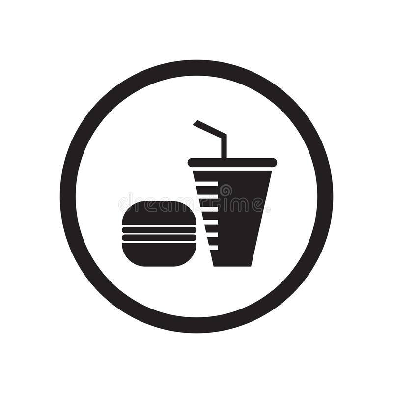 Fast food restaurant icon vector sign and symbol isolated on white background, Fast food restaurant logo concept stock illustration