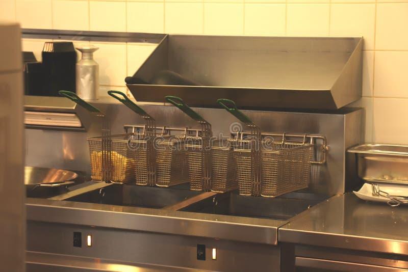Fast food restaurant kitchen royalty free stock photos