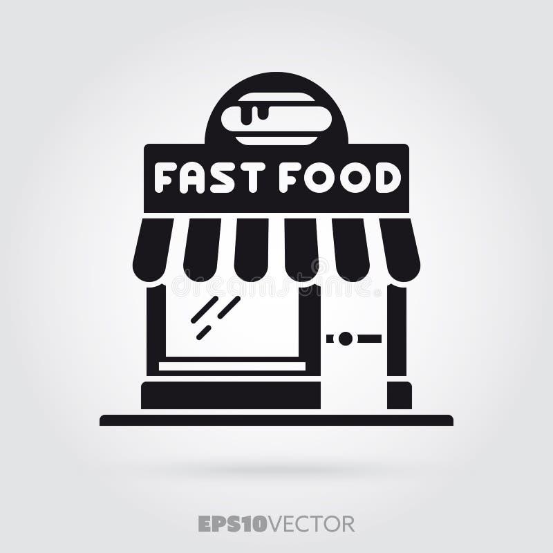 Fast food restaurant vector glyph icon royalty free illustration