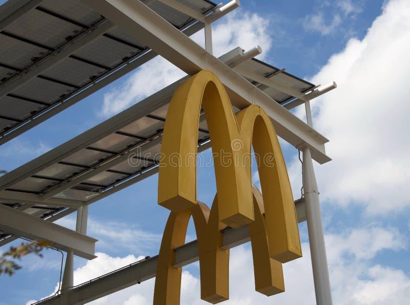 Fast food Resturant de mcdonald, casa do Big Mac foto de stock royalty free