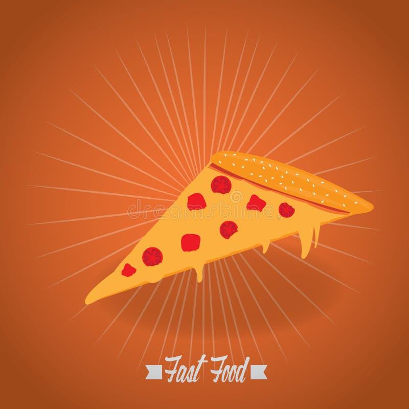 Fast food retro ilustração stock