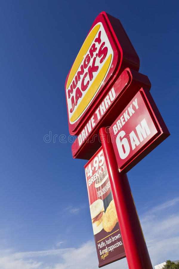 Download Fast Food roadside Sign editorial photography. Image of cloud - 20994517