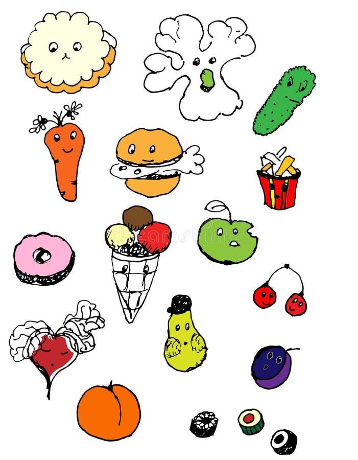 Fast food Seamless, quick snacks, colorful vegetable set, vector illustration. Fast food Seamless, quick snacks, colorful vegetable set, vector vector illustration