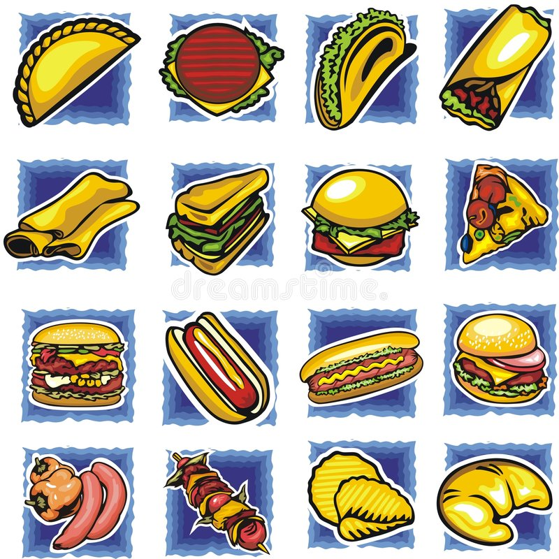 Fast food set royalty free stock photography