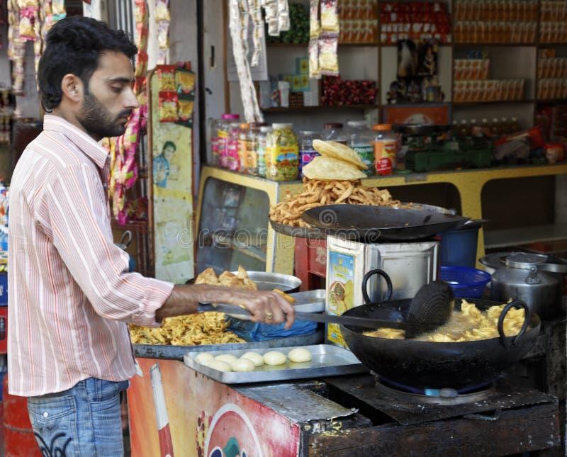 Fast food stall Shiva Kodi Jammu Kashmir royalty free stock image