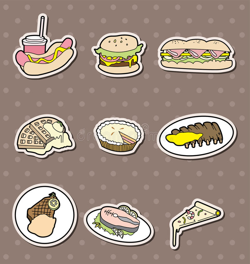 Download Fast food stickers stock vector. Image of fast, chopsticks - 24631646