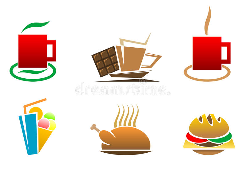 Fast food symbols royalty free stock photography