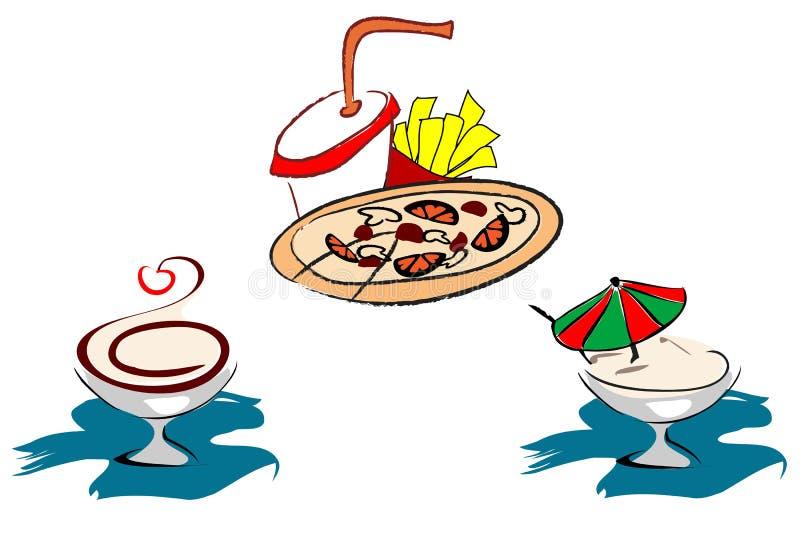 Fast food symbols stock image