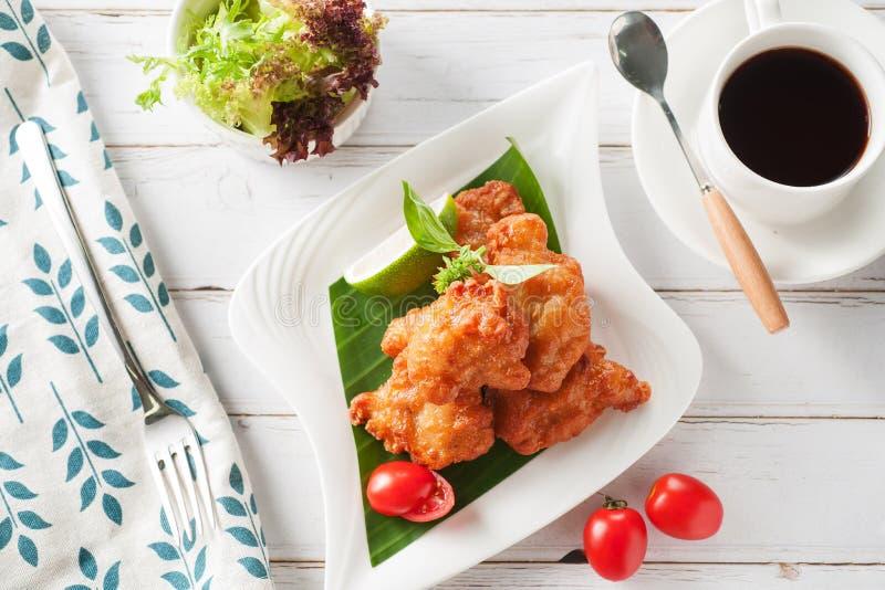 Fried chichen stock photo