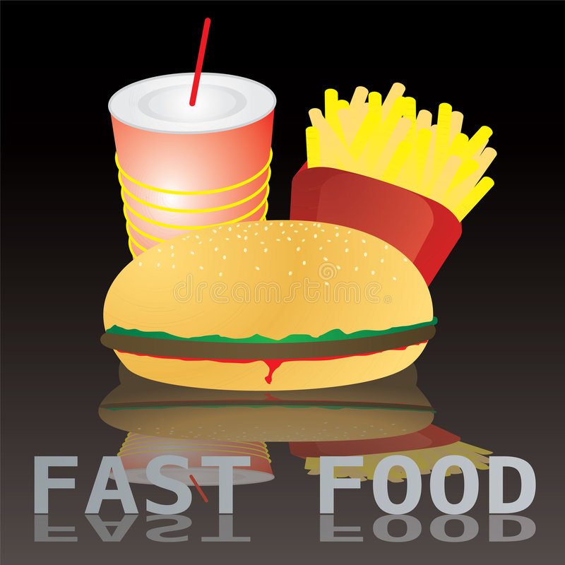 Fast food tile text stock illustration