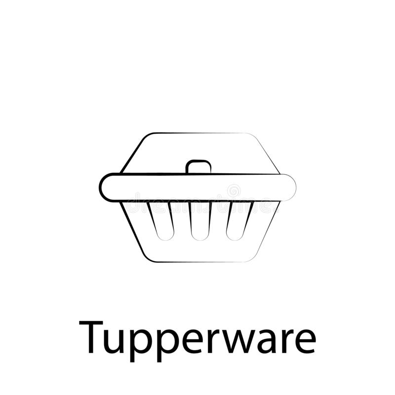 Fast food tupperware outline icon. Element of food illustration icon. Signs and symbols can be used for web, logo, mobile app, UI vector illustration
