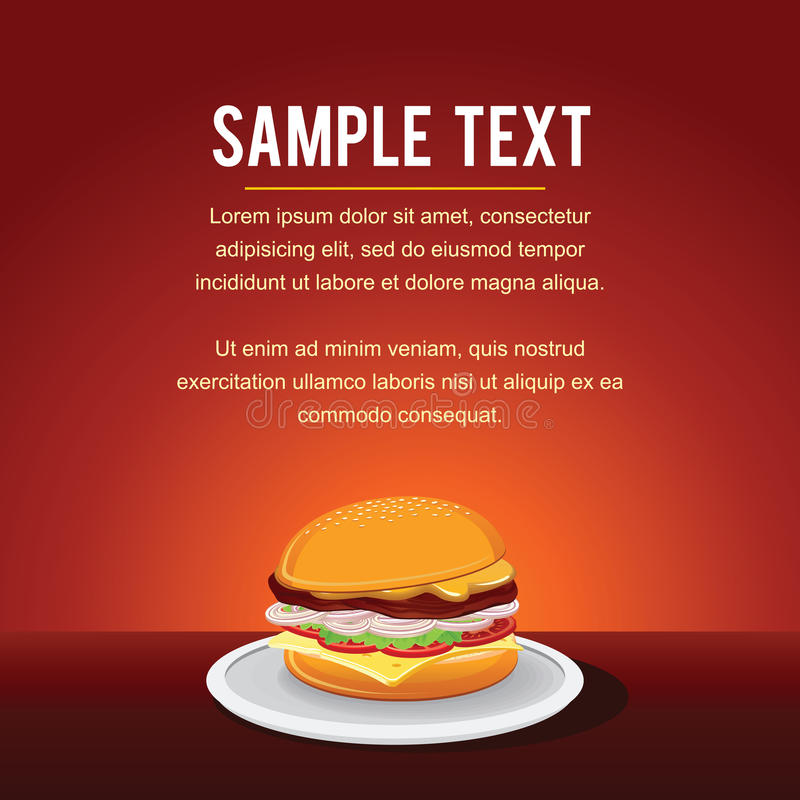 Fast Food Vector Background Template royalty free illustration