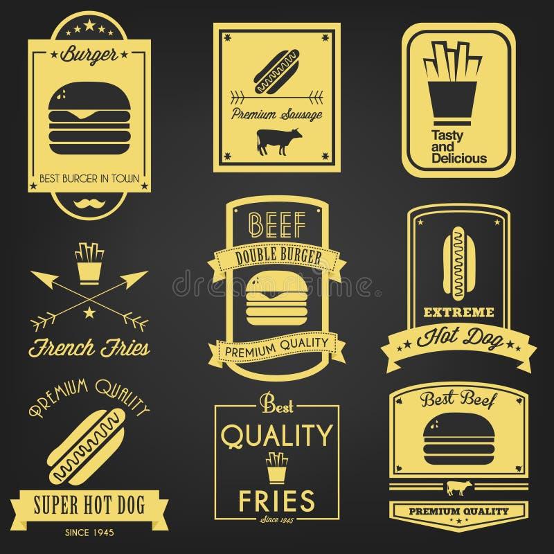 Download Fast Food Vintage Label stock vector. Illustration of cuisine - 39510558