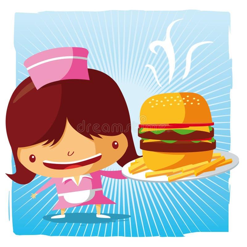 Fast Food Waitress Royalty Free Stock Photos