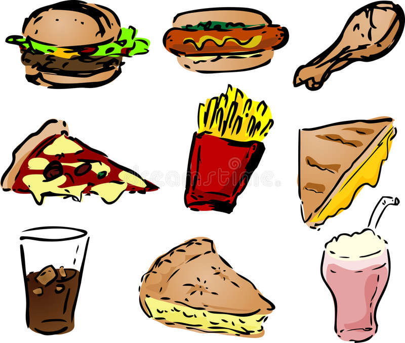 Download Fast Foody Ikony Zdjęcia Stock - Obraz: 1736993