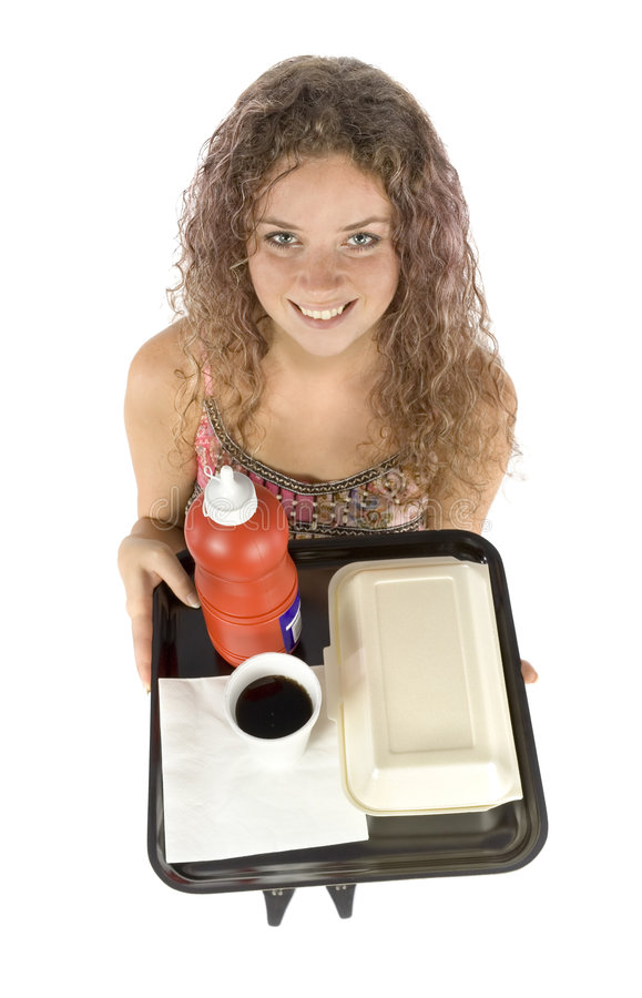 fast foody tacy kobieta obraz stock