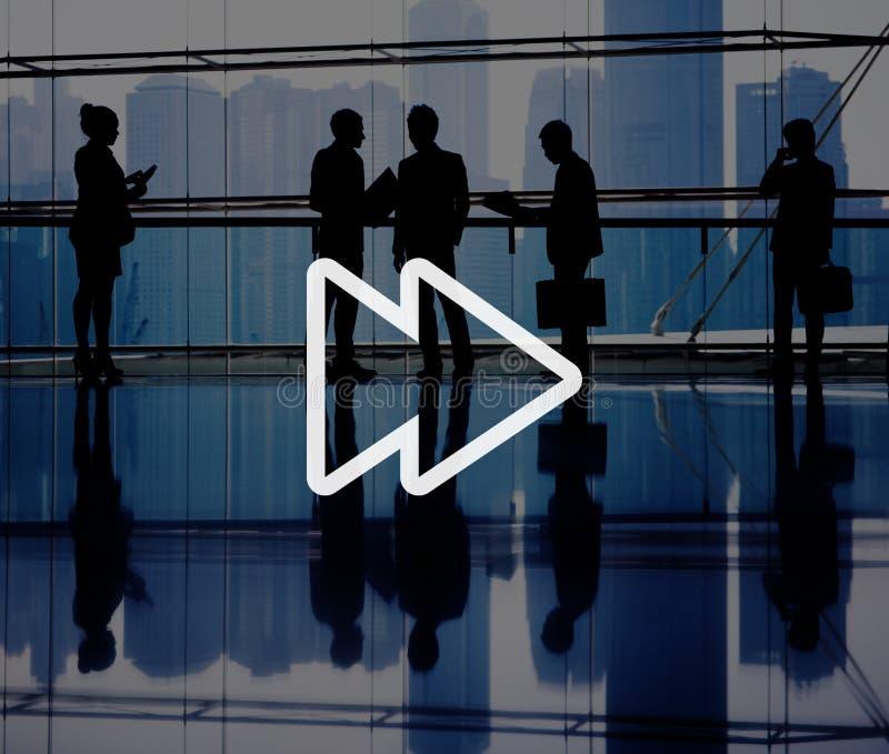 Fast Forward Multimedia Music Audio Concept stock image