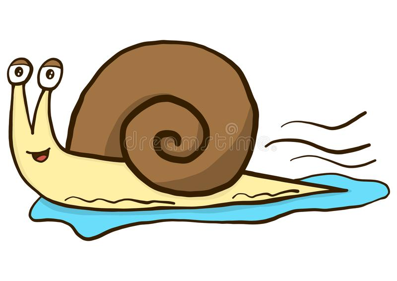 Fast and furious snail vector illustration