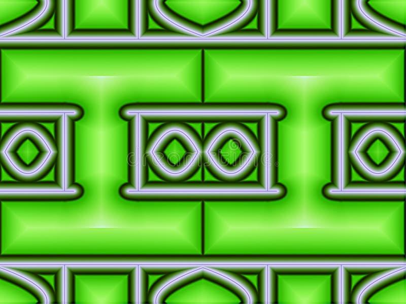 Fast geometrisk modell vektor illustrationer