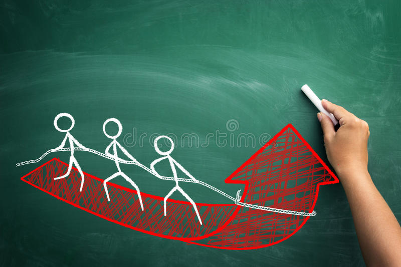 Fast growing business with team work stock photo