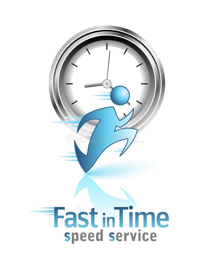 Fast i tid. Social symbol stock illustrationer