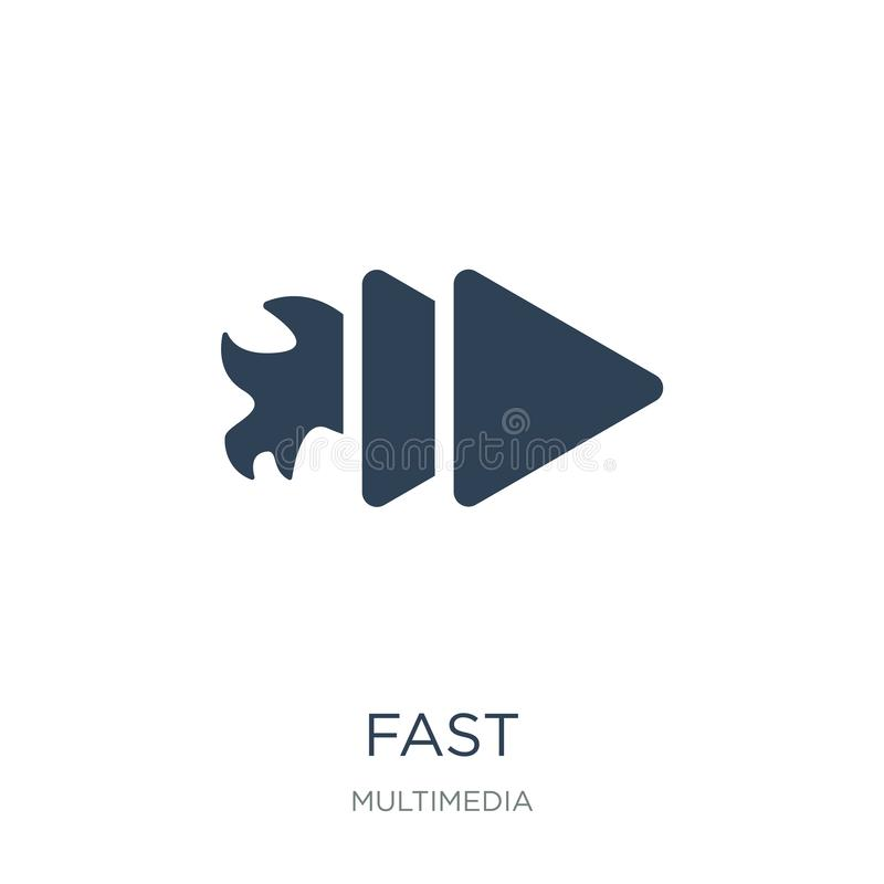 Fast icon in trendy design style. fast icon isolated on white background. fast vector icon simple and modern flat symbol for web. Site, mobile, logo, app, UI royalty free illustration