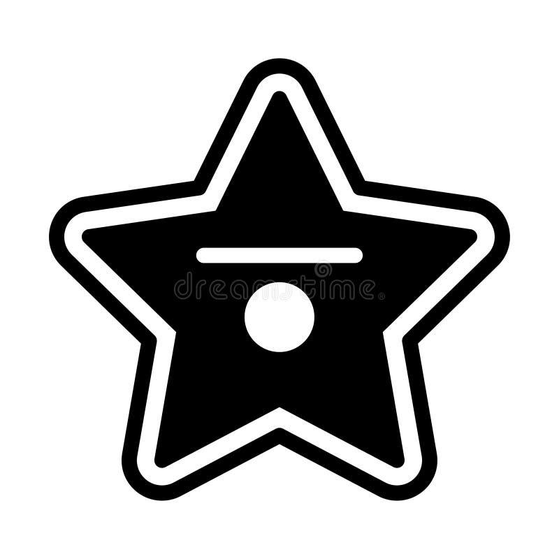 Fast illustration för Hollywood stjärna vektor illustrationer
