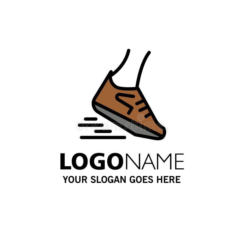 Fast, Leg, Run, Runner, Running Business Logo Template. Flat Color royalty free illustration