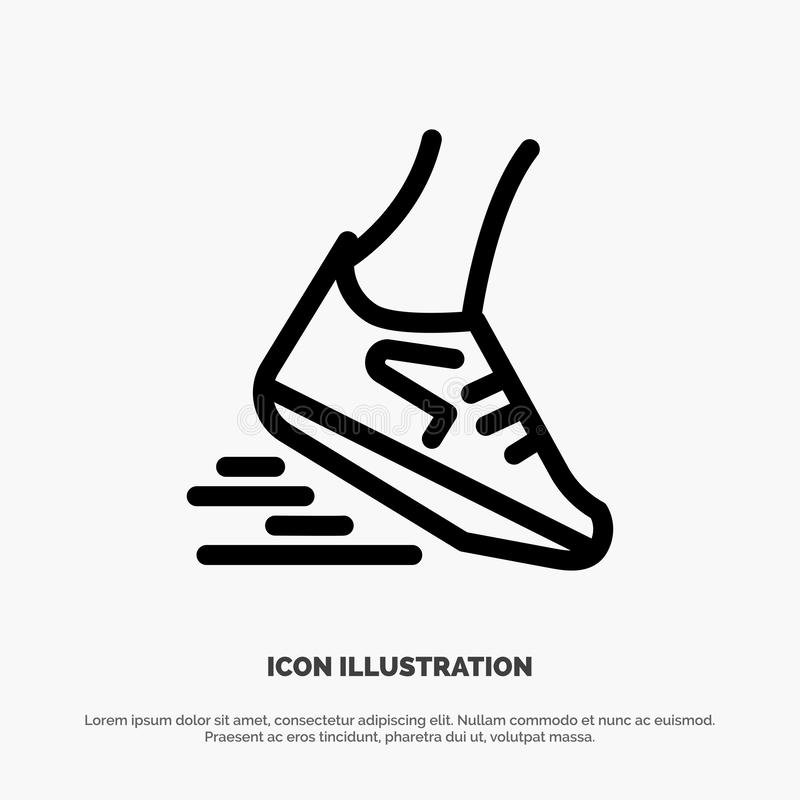 Fast, Leg, Run, Runner, Running Line Icon Vector royalty free illustration