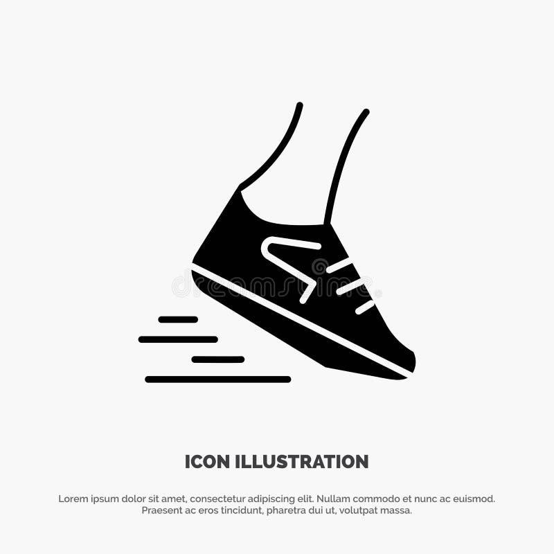 Fast, Leg, Run, Runner, Running solid Glyph Icon vector stock illustration