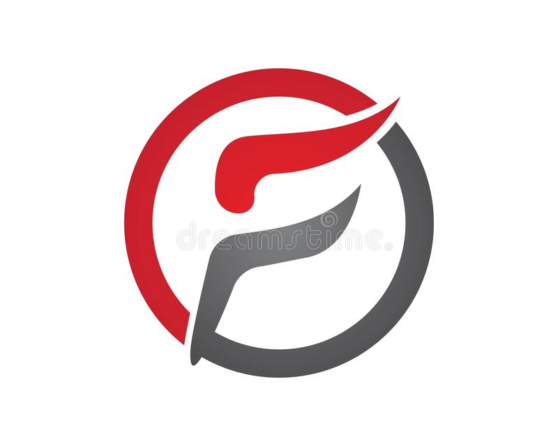 Fast line F letter logo monogram vector illustration