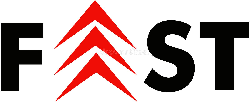 Fast Logo. Arrow Letters Logo stock illustration