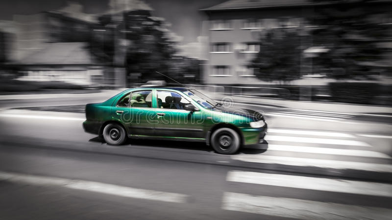 Fast moving car stock images