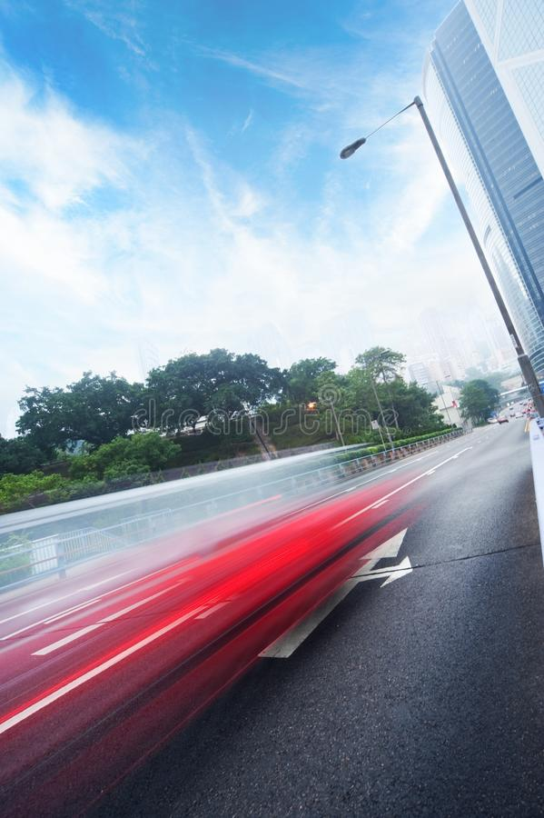 Fast moving cars royalty free stock photo