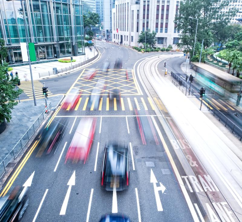 Fast moving cars royalty free stock photos