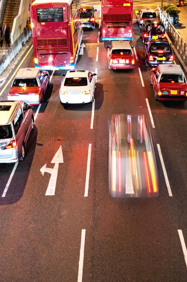 Download Fast moving cars at night stock photo. Image of commercial - 12574504