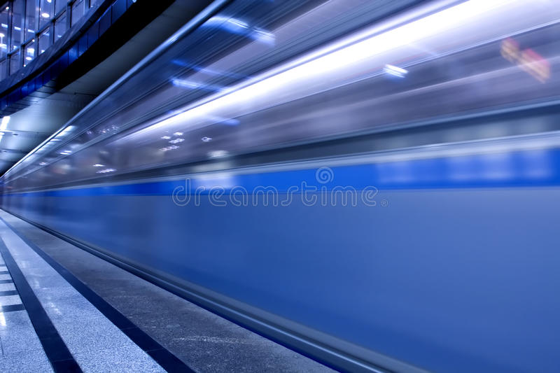 Fast moving train royalty free stock photos
