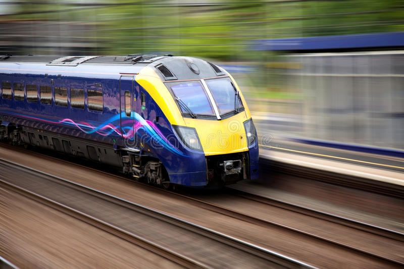 Fast moving train royalty free stock photo